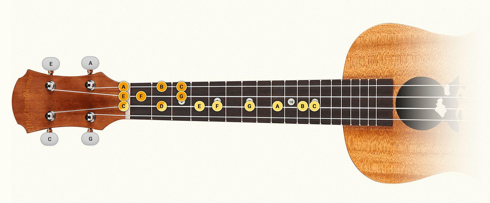 C major duo ukulele scale